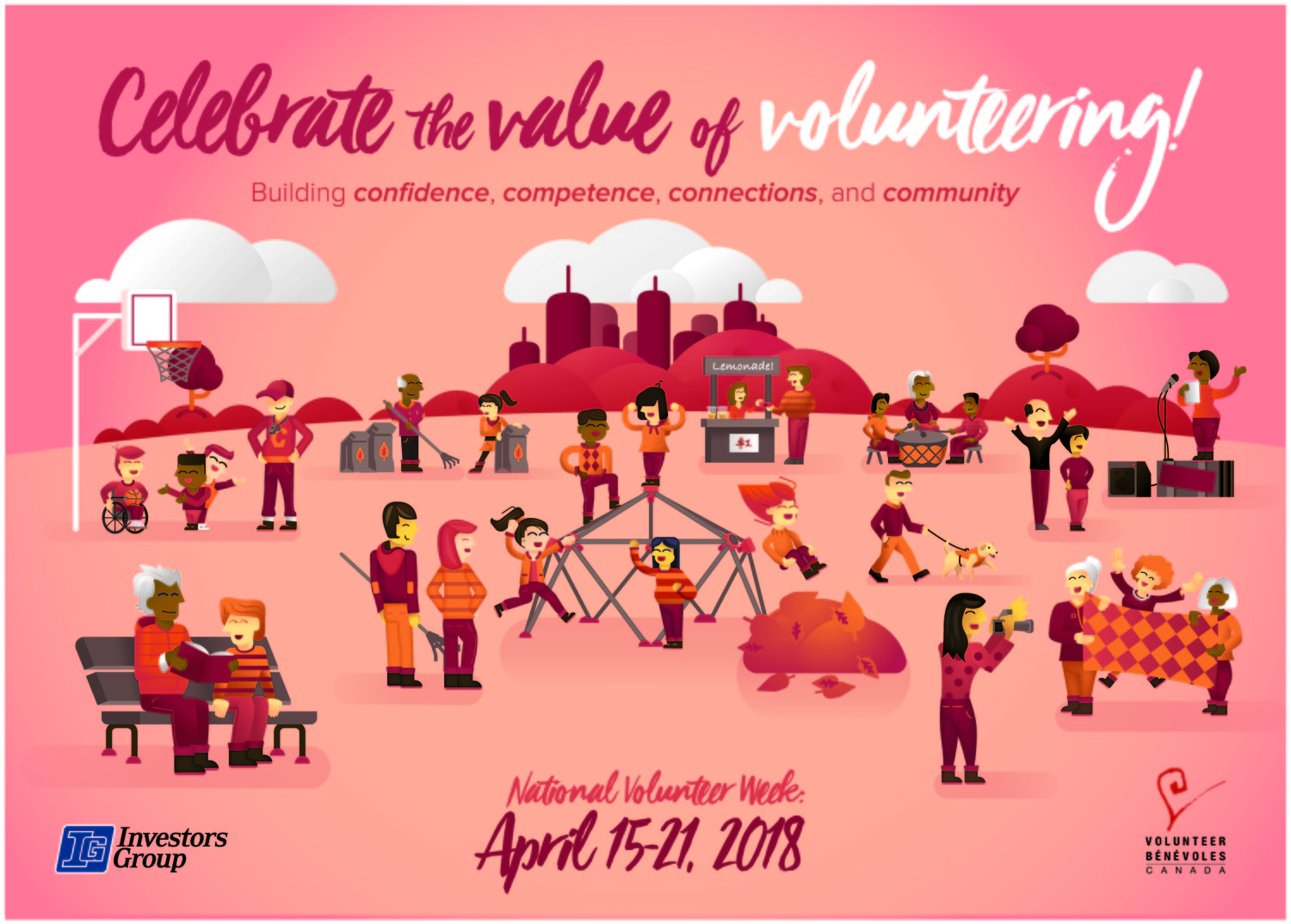 For National Volunteer Week this year, we provided our volunteers with thank you cards and letters and recognized them on the electronic sign outside our office. We also gave gift baskets to the volunteer members of the Board of Directors.