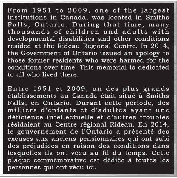 <b>Rideau Regional Plaque</b>
