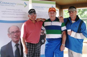 <b>Gerry Mansveld with Dinner Sponsors Don &amp; Steve Thompson of Stevenson &amp; Hunt</b>