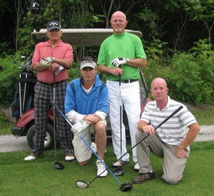 <b>Chris Grayson ED, golfs with Sponsors Darwin Prince & Don & Steve Thompson</b>