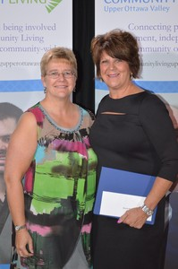 <b>Carol Sollows &amp; Bonnie Michaud</b><br />Bonnie Michaud 10 year recipient