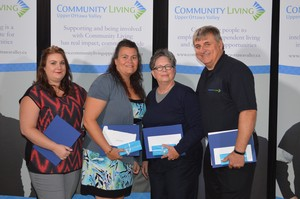 <b>5 year recipients`</b><br />Tammy Rosien, Amanda Whittington, Wendy Cayen, Paul Mayfield