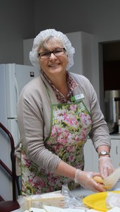 <b>Cindy Nicholas on kitchen duty</b>