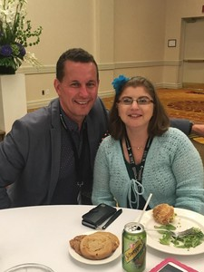 <b>Raina with Community Living Ontario CEO Chris Beesley</b>